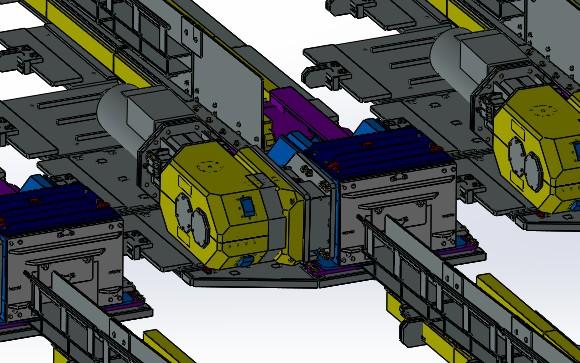 System X podczas obrotu testowym modelem