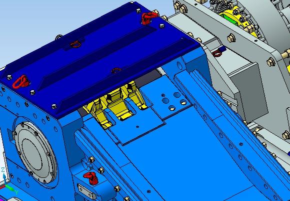 System C podczas obrotu testowym modelem