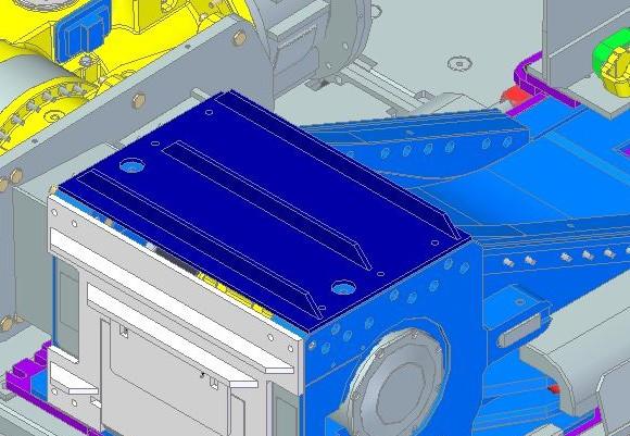 System D podczas obrotu testowym modelem