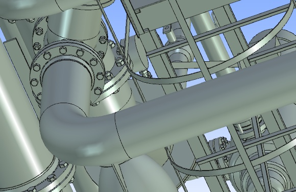 T-Flex CAD podczas obrotu testowym modelem